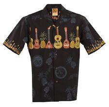 Big & Tall Ukulele Hawaiian Aloha Shirt