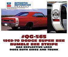 QG-565 1969-70 DODGE CORONET SUPER BEE - BUMBLE BEE STRIPE - REFLECTIVE BEE