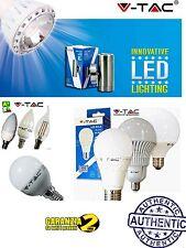 LAMPADINA LED V-TAC E27 E14 DA 4W A 17W SFERA MINIGLOBO CANDELA 2700 4500 6000
