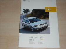 40606) Opel Astra Prospekt 11/2002