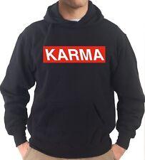 Felpa Con Cappuccio KJ2298 Karma Oh Buddha Supreme Street Tumblr