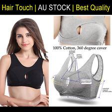 1cceb24e1dec0 Womens Set of 3 Crop Top Bras Yoga Sport   Nursing Sleep Bra Cotton Ahh  Leisure