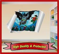 Lego Batman Pared Arte Rip Impreso pegatina de vinilo calcomanía Childrens bedroom Chicos