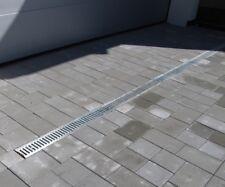 Entwässerungsrinne Garagenset Komplett SET Stegrost Stahl verzinkt 3 oder 6 m