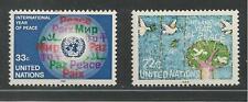 United Nations, New York # 475-476 Mnh International Peace Year