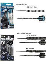 Phil Taylor Power 8Zero 80% Tungsten Steel Tip Darts Target - Silver or Black