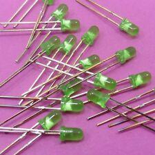 Verde Difusa Diodo LED Ultra Brillante 3mm 2V-2.5V 20mA emisores de luz