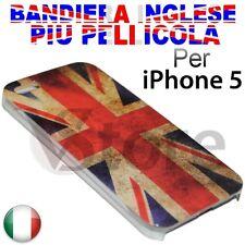 Cover Custodia Per iPhone 5S 5 5G Inghilterra Inglese UK Retro + Pellicola