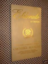 1980 CADILLAC ELDORADO OWNERS MANUAL ORIGINAL GLOVEBOX