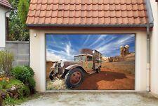 3D Truck Desert 4 Garage Door Murals Wall Print Decal Wall AJ WALLPAPER AU Lemon