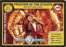DR WHO MONSTER INVASION SET 2 EXTREME CARD: 308 PRISONER OF THE ZYGONS