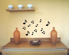 Musiknoten Wandaufkleber 12er Set 25 Farben Bogenmaß 15x20cm Wandtattoo Sticker