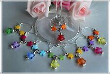 Glasmarker Sterne Twinkle Stars Party Gastgeschenk Schmuck Charm 6er Set
