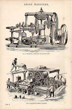1868 PRINT BRICK MACHINE BRADLEY & CRAVEN CLAYTON'S