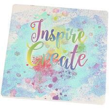 Inspire and Create Half Tone Paint Art Set of 4 Square Sandstone Coasters