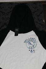 Hollister Herren Sweater SUP stand up paddle Hoodie mit Kapuze Weiß Blau L, XL