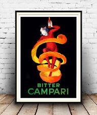 BITTER CAMPARI: riproduzione vintage bevande Pubblicità, POSTER, wall art.