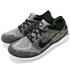 Nike Free RN Flyknit 2018 Grey White Black Men Running Shoes Sneakers 942838-101