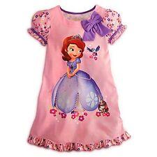Disney Store Sofia The First Nightshirt Pink Nightgown Pajama dress Sophia NEW