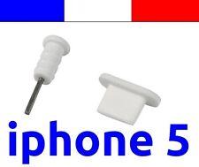 x1 LOT BLANC anti-poussière cache capuchon bouchon lightning pour iphone 5 5C 5S