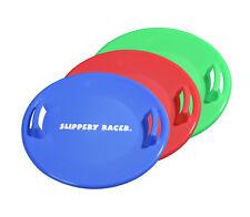 Slippery Racer Downhill Pro Disc Winter Saucer Snow Sled - 3 PACK