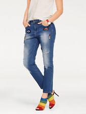 Boyfriend-Jeans mit Patches Versandhaus. Kurz-Gr. NEU!!! KP 69,90 € SALE%%%