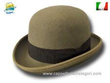 Melegari Cappello a Bombetta in feltro di lana kaki