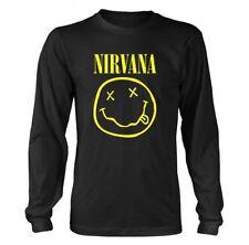 Nirvana' klassisch Smiley Logo' Langarm T-Shirt - NEU