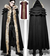 Cape longue manteau gothique baroque dandy capuche armure fourrure PunkRave homm