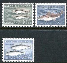 Greenland 139-141, MNH, Marine Life, Fish. s8723
