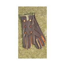 Bruno Carlo Brown Multi Coloured Wrist Kid Gloves