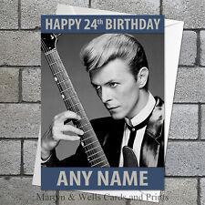 David Bowie birthday card: Personalised, plus envelope.