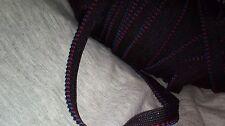 2 metres de passepoil ou galon noir, rouge, bleu 4 mm de largeur