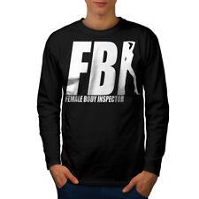 Ofensiva del FBI Broma Divertida Hombre Manga Larga T-shirt new   wellcoda