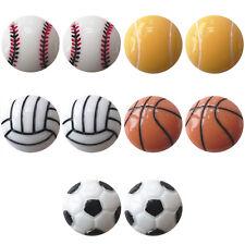 Conjunto de 5 o 3 pares de bola de cesta de fútbol Mini Juegos Aretes Twinkle Tesoro