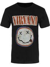 Nirvana T-shirt Distressed Logo Men's Black