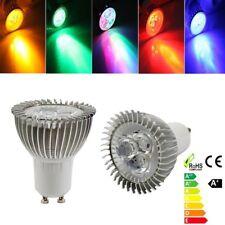 4X/10X/20X GU10/MR16/E14/E27 3W RGB LED Spotlight Bulb Energy Saving Lamp Lights