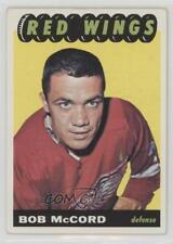 1965-66 Topps #46 Bob McCord Detroit Red Wings Hockey Card