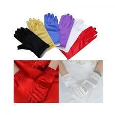 Women Girls Short Gloves Wedding Prom Party Dance Costume Wrist Gloves Fashion