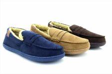 Hombre Hampshire Azul Marino Piel Sintética Zapatillas Mocasín Clásico Pantuflas
