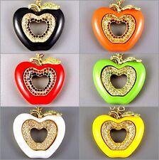 Debenham Brillante Kitsch Gold Plt Apple Wag Colgante Collar C / Cristales Swarovski