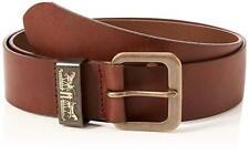 Levi's da Uomo pelle 2 Cavallo Logo Cintura Jean 228983 - Marrone