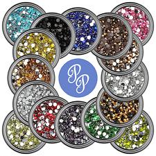 Nail Art Rhinestone 2MM Flat Back Gems 20 Colors