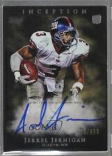 2011 Topps Inception #115 Jerrel Jernigan New York Giants Auto Football Card