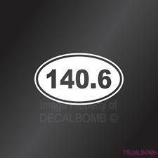 140.6 Marathon Decal Sticker Oval Window Vinyl Run Walk rzr car truck triathlon