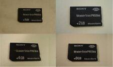Sony 1GB 2GB 4GB 8GB 1 2 4 8 GB Memory Stick Pro Duo Card