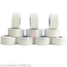 10,000 WHITE Permanent 22mm x 12mm (21mm x 12mm) CT1 Price Gun Labels 10 Rolls