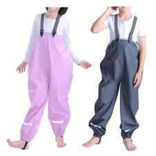 Kids Bib Pants Rainwear - Child Rainsuit Rain Slicker Student Raincoat Proof New