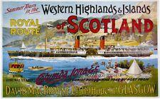 078 Vintage Ferrocarril Arte Cartel altiplano occidental de Escocia * Libre Carteles