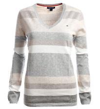 Tommy Hilfiger V-Neck Damen Pullover Pulli Strickpullover Größe XS-XXL